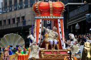 New Orleans' King of Rex, Mardi Gras day